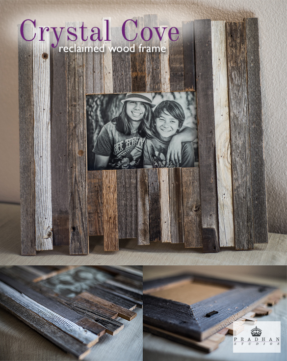 reclaimed barnwood beach frame